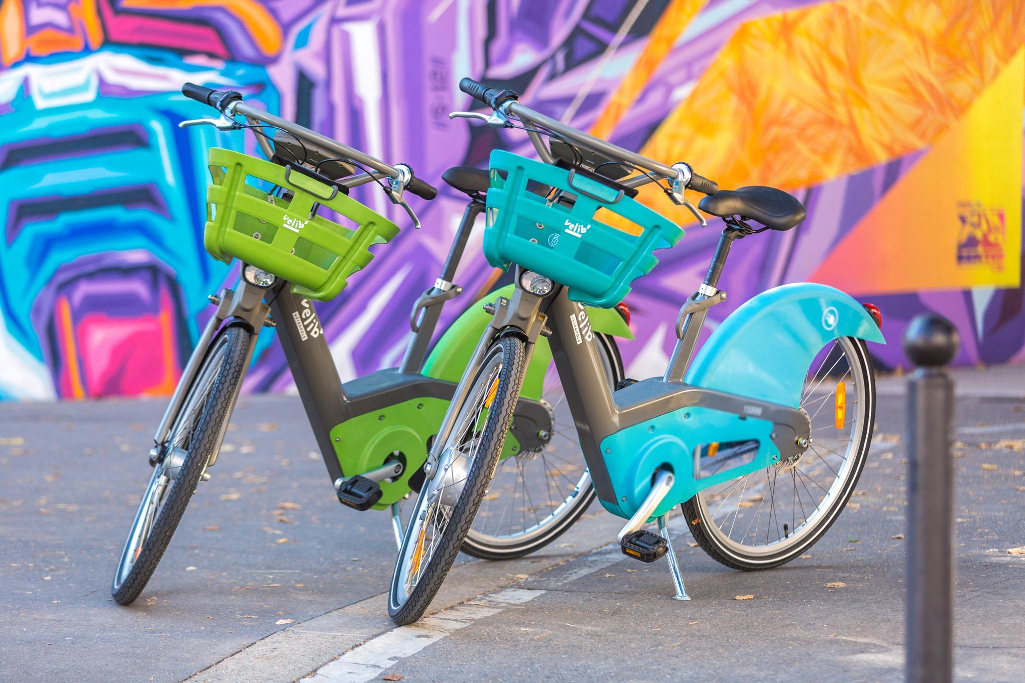 Vélib verde e azzurro