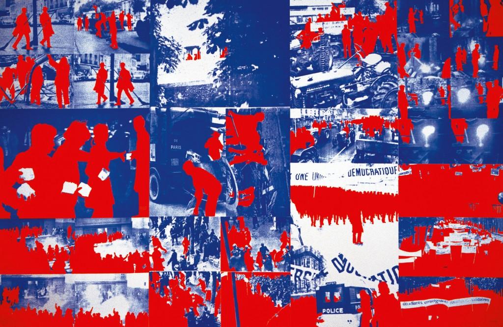 Album Le Rouge, 1968 21 affiches sérigraphiées Centre Pompidou, Musée national d'art moderne, don de l'artiste, 2006 © Gérard Fromanger, 2016 © Collection Centre Pompidou/Dist. RMN-GP photo Georges Merguerditchian
