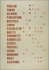 Il Manifesto di Alighiero Boetti (1967)  Credits: Centre Pompidou